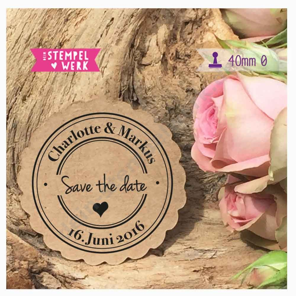 Siegelstempel Save the date